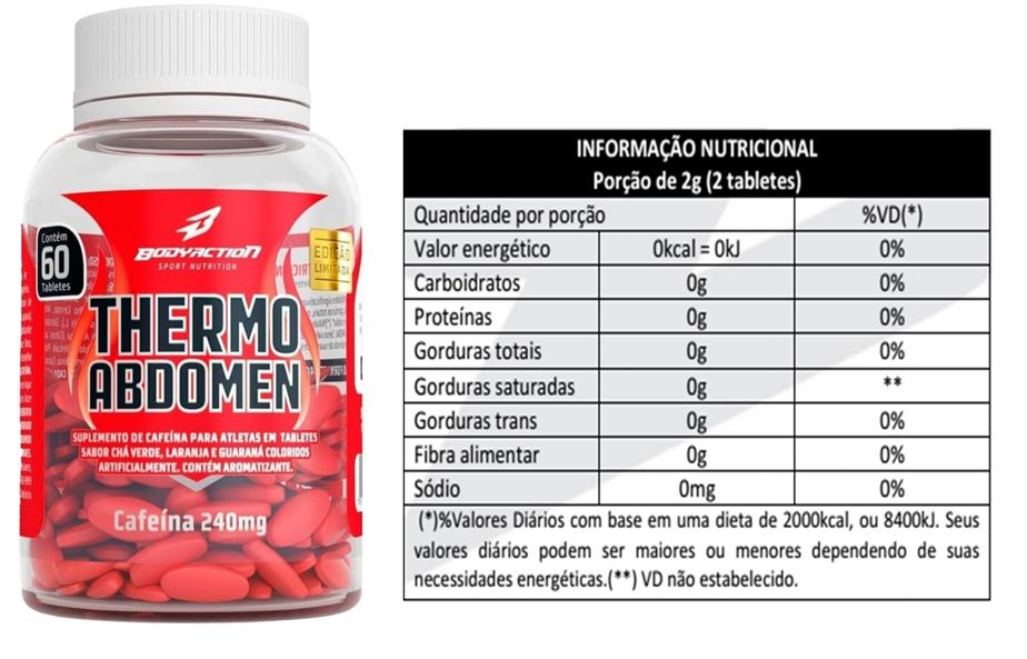 5 THERMO ABDOMEN 60 TABS - BODYACTION