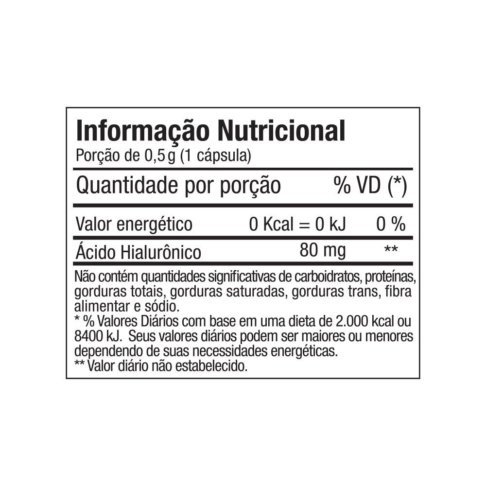 ÁCIDO HIALURONICO 30 CAPS - FITOWAY CLEAN