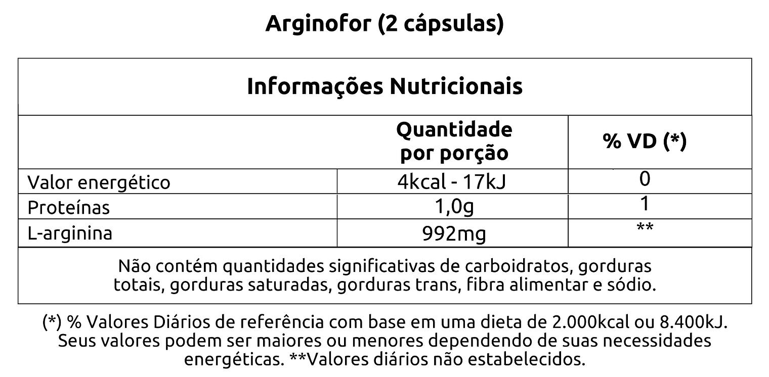ARGINOFOR 30 CÁPSULAS - VITAFOR