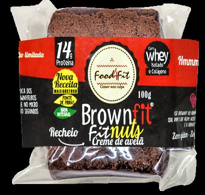 BROWNFIT COM CREME DE AVELÃ 100G - FOOD4FIT