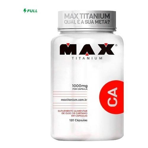 CA – OLEO DE CARTAMO POTE COM 120 CAPS – MAX TITANIUM