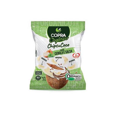 CHIPS DE COCO SABOR CEBOLA E SALSA 20G - COPRA
