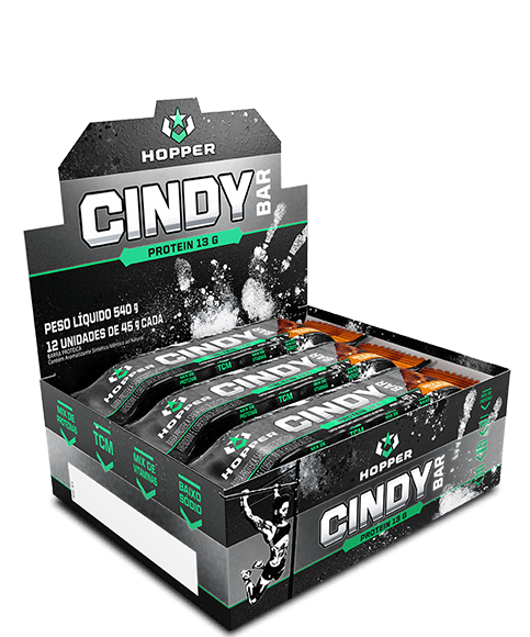 CINDY BAR CAIXA C/ 12 UN - HOPPER NUTRITION