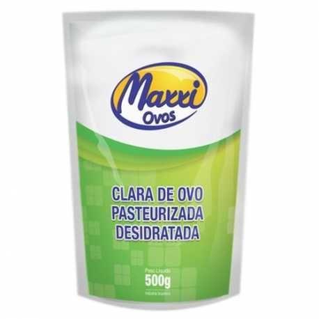 CLARA DE OVO PASTEURIZADA DESID. 500G(ALBUMINA) - MAXXI OVOS