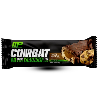 COMBAT CRUNCH BARS SABOR COOKIES AND CREAM UN 45G - MUSCLEPHARM
