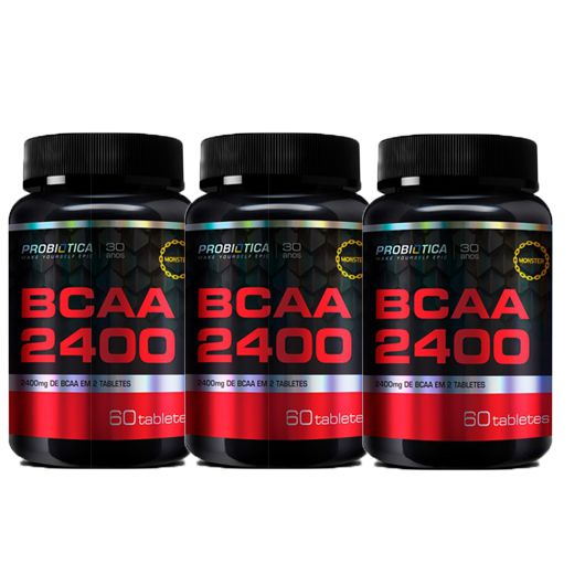 COMBO 3 BCAA 2400 60 CAPS - PROBIOTICA