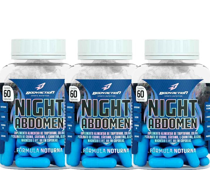 COMBO 3 NIGHT ABDOMEN 60 CAPS - BODYACTION