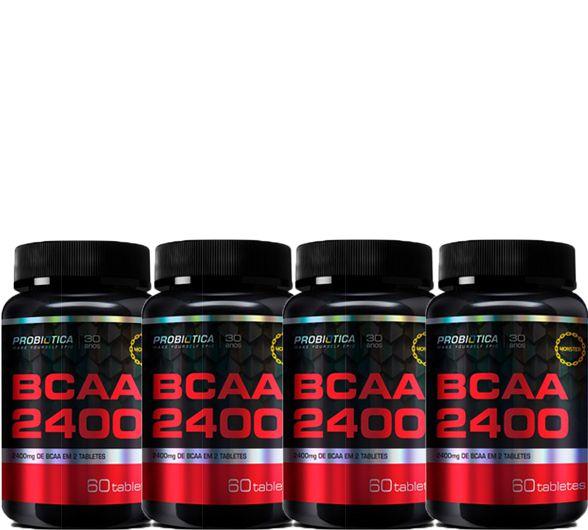 COMBO 4 BCAA 2400 60 CAPS - PROBIÓTICA