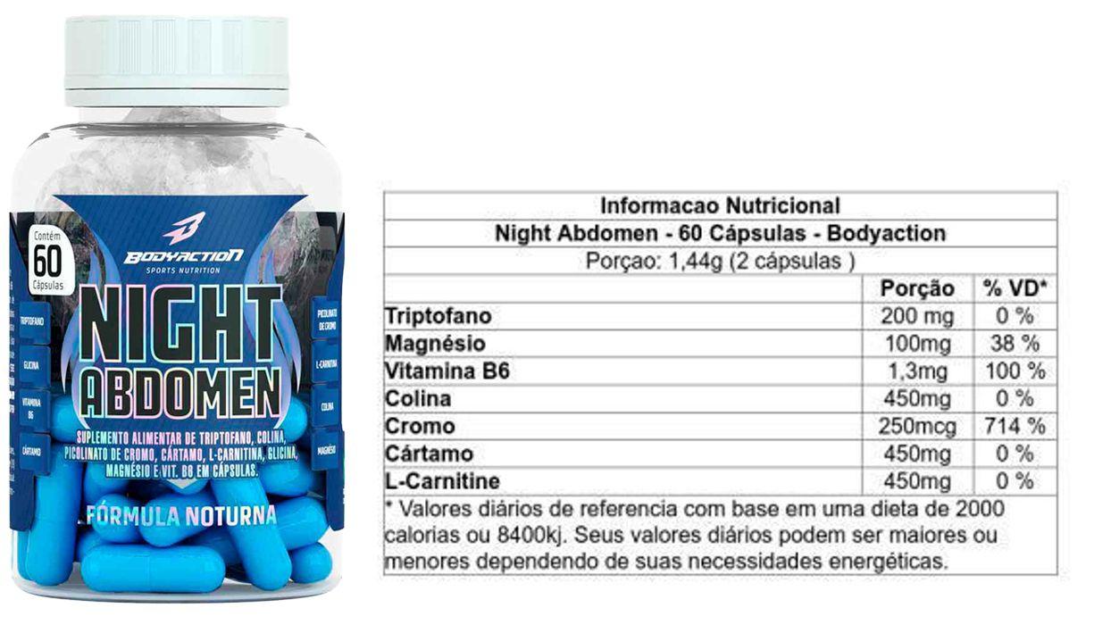 COMBO 4 NIGHT ABDOMEN 60 CAPS - BODYACTION