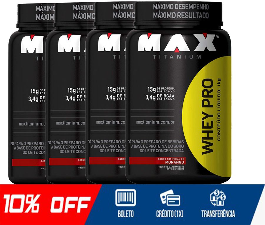 COMBO 4 WHEY PRO - MAX TITANIUM