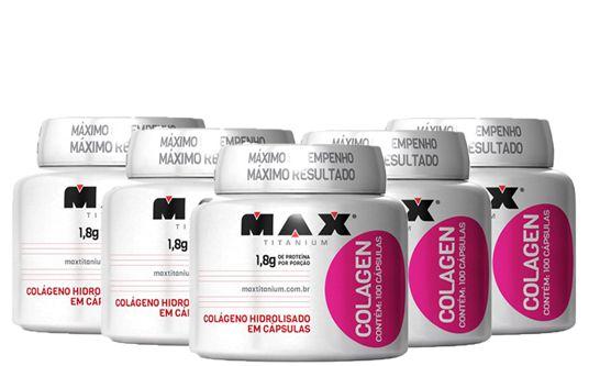COMBO 5 COLÁGENO HIDROLISADO MAX TITANIUM