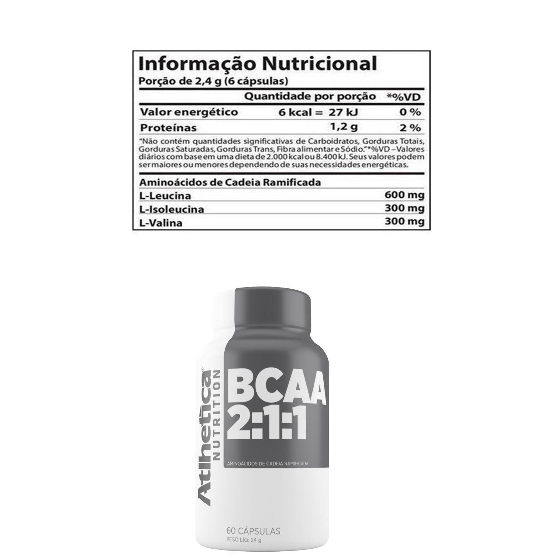 COMBO 6 BCAA 2:1:1 60 CAPS - ATLHETICA NUTRITION