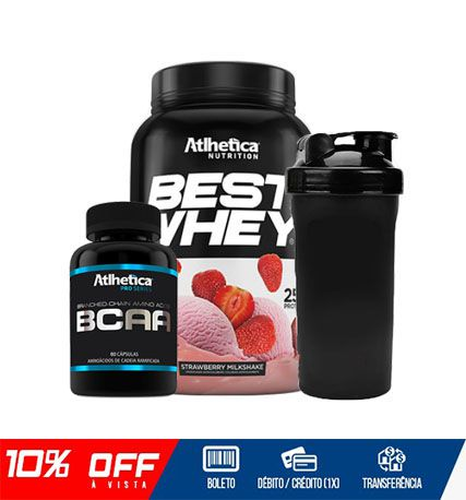 COMBO BEST DEFINITION - BEST WHEY + BCAA 60 CAPS + COQUETELEIRA