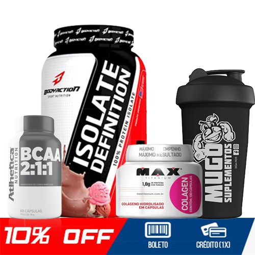 COMBO ISOLATE DEFINITION + BCAA + COLÁGENO + COQUETELEIRA