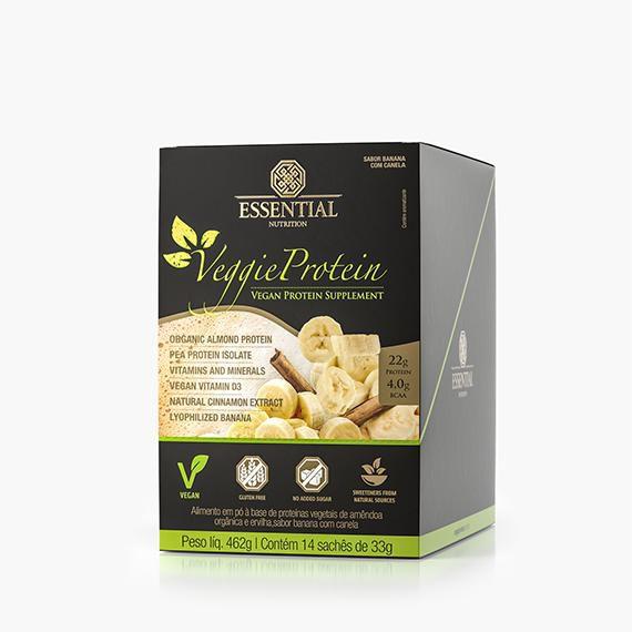 DOSE UN. VEGGIE PROTEIN BANANA COM CANELA -462G -  ESSENTIAL NUTRITION