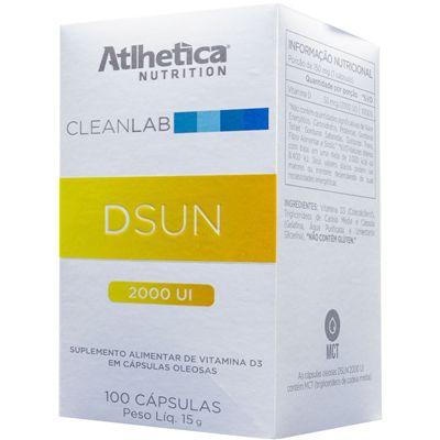 Dsun Vitamina D3 2000 UI (100 caps) Atlhetica Nutrition