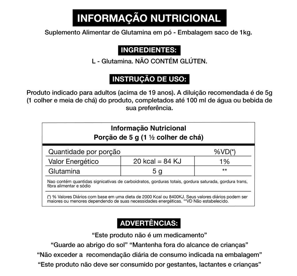 GLUTAMINA FERMENTADA 1KG REFIL - ADAPTOGEN