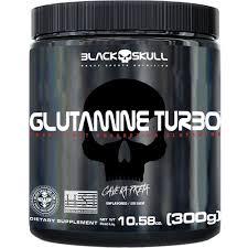 GLUTAMINE TURBO CAVEIRA PRETA - GLUTAMINA - 300G