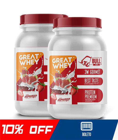 GREAT WHEY EM DOBRO 900G - BULL LABS
