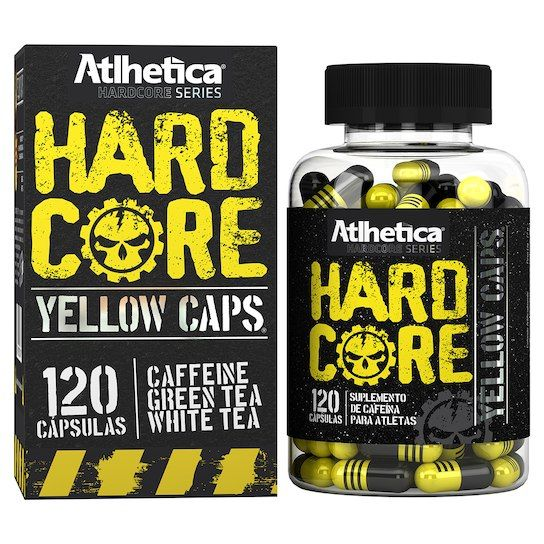 HARDCORE YELLOW CAPS 120 CAPSULAS - ATLHETICA NUTRITION