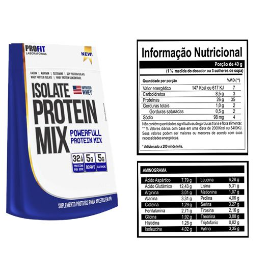 ISOLATE PROTEIN MIX REFIL PAGUE 2 LEVE 3 - PROFIT LABS