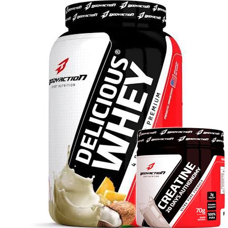 KIT GANHE MUSCULOS - DELICIOUS WHEY + CREATINA 70G