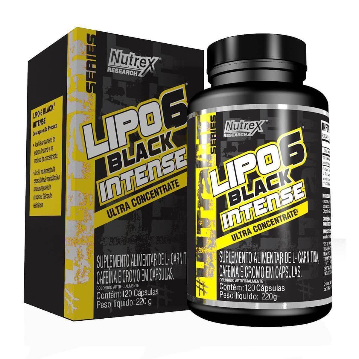 LIPO 6 BLACK INTENSE ULTRA CONCENTRADO 120 CAPS - NUTREX