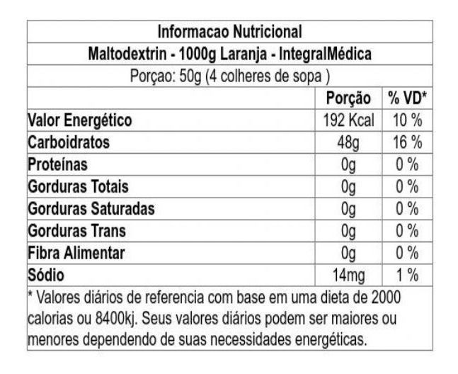 Maltodextrin - Pouch 1Kg - INTEGRALMÉDICA