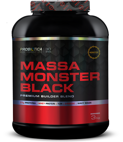 MASSA MONSTER BLACK 3Kg - PROBIOTICA