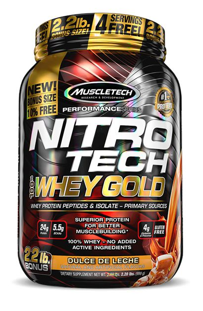 NITRO TECH 100% WHEY GOLD 2,5LBS - MUSCLETECH