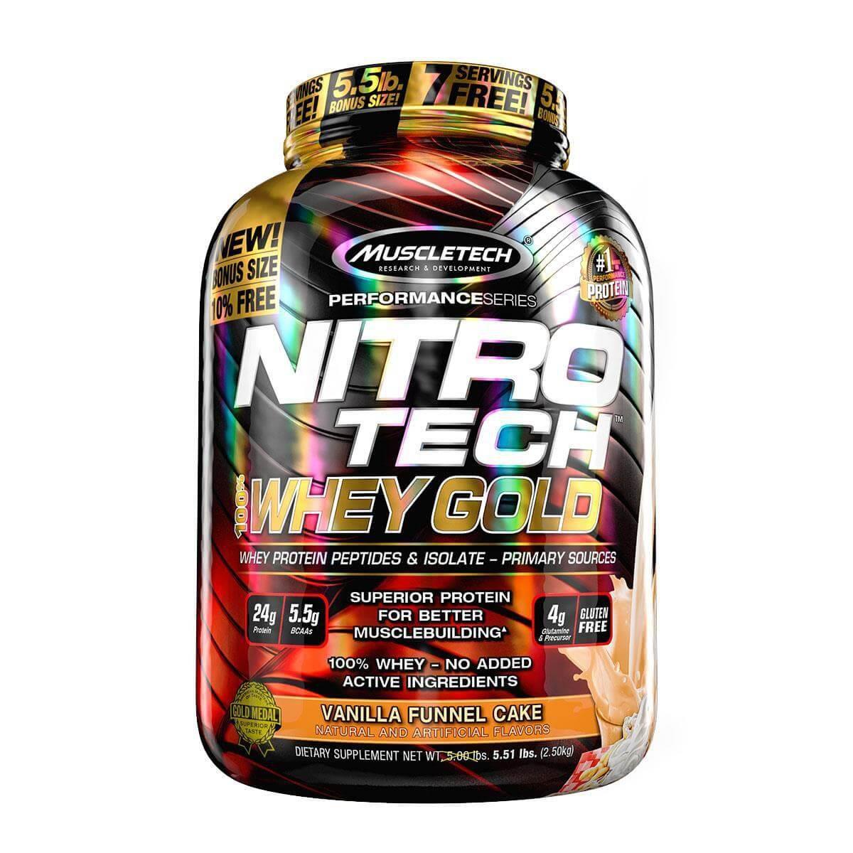 NITRO TECH 100% WHEY GOLD 5,53LB - MUSCLETECH