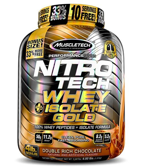 NITROTECH 100% WHEY GOLD ISOLATE 1810G - MUSCLETECH