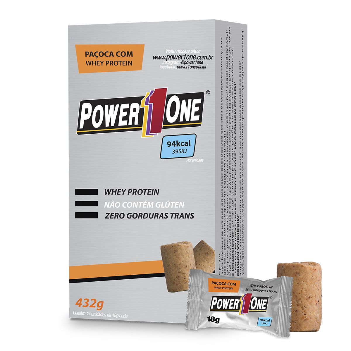 PAÇOCA C/ WHEY PROTEIN  UN - POWER ONE