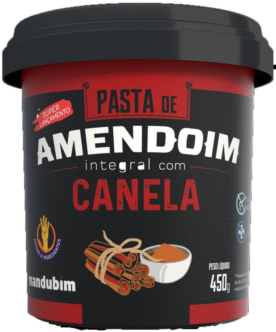 PASTA DE AMENDOIM INTEGRAL CANELA - 450GR - MANDUBIM