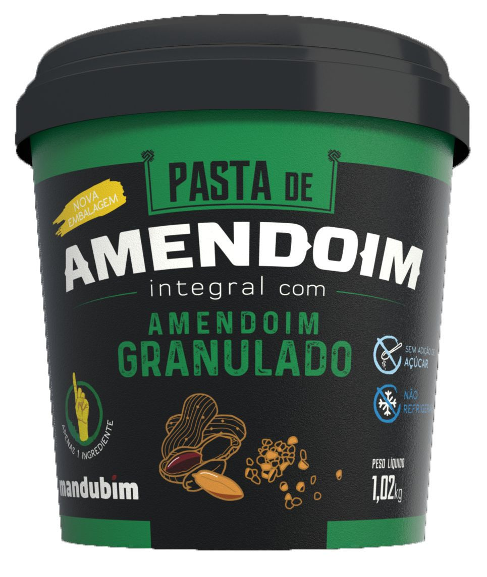 PASTA DE AMENDOIM INTEGRAL GRANULADO - MANDUBIM - 1KG