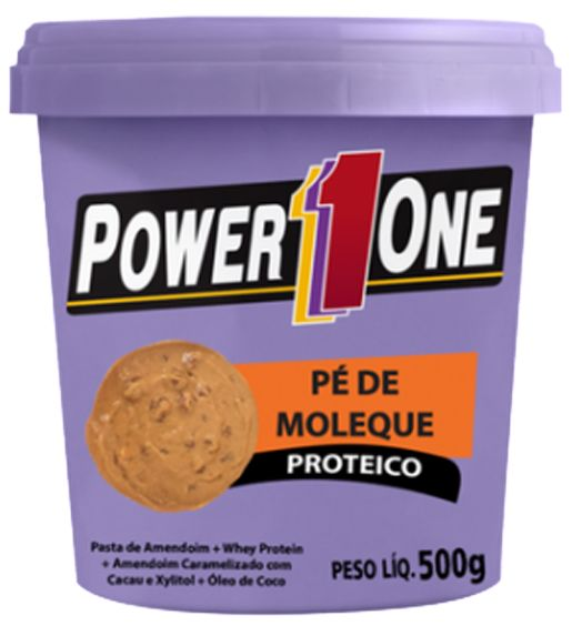 PASTA DE AMENDOIM PROTEICO, SABOR PÉ DE MOLEQUE - POWER ONE