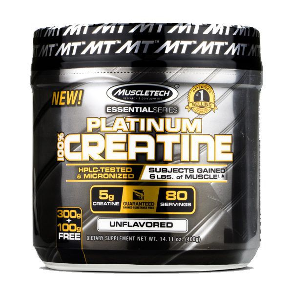 PLATINUM 100% CREATINE MICRONIZED (400G) - MUSCLETECH