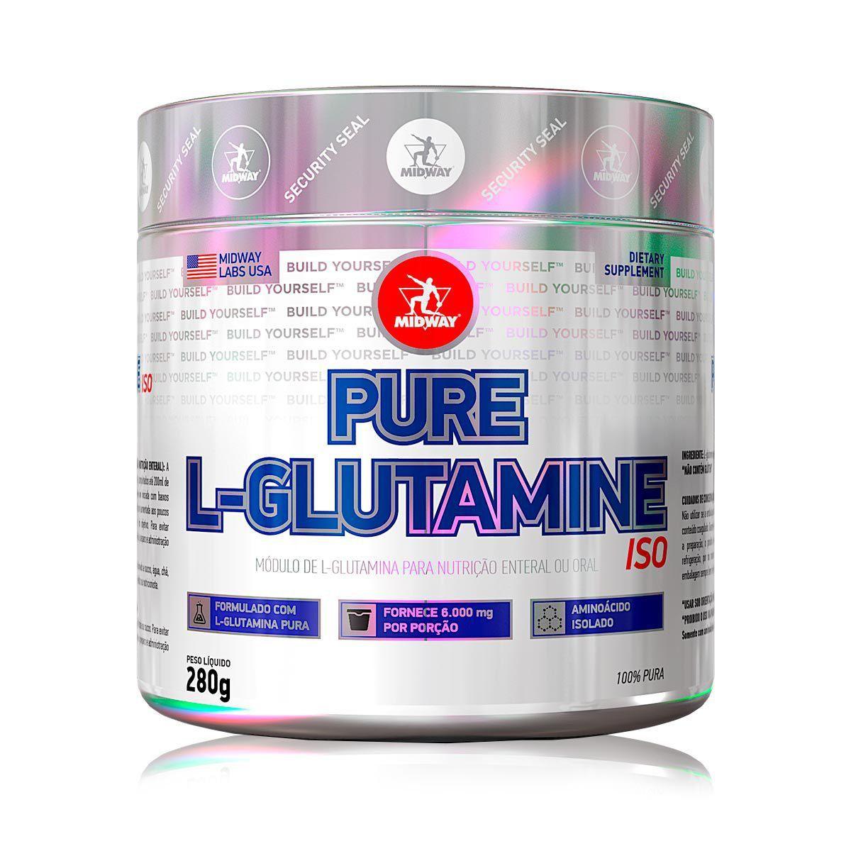 PURE L-GLUTAMINA POWDER 280G - MIDWAY