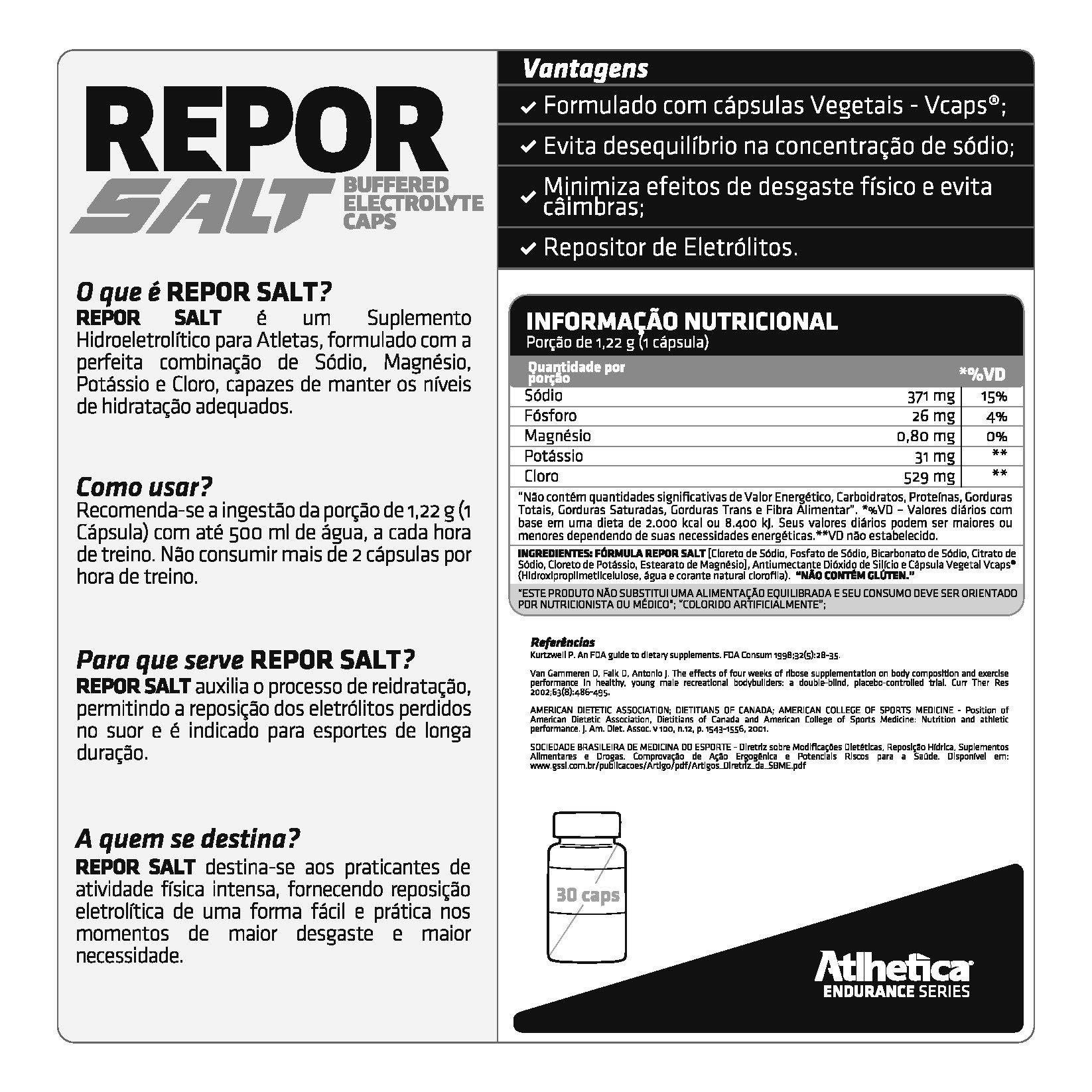 REPOR SALT 30 CAPS -  ATLHETICA NUTRITION