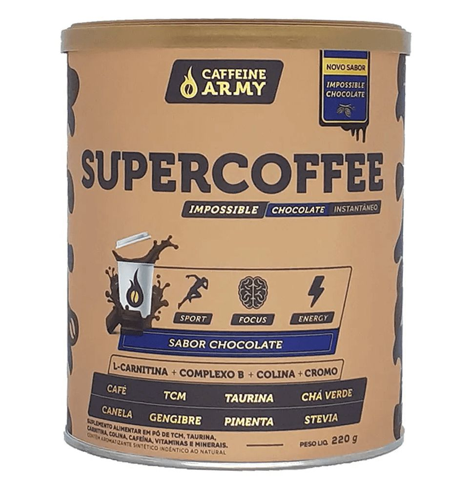 SUPERCOFFEE IMPOSSIBLE CHOCOLATE (220G) - CAFFEINE ARMY