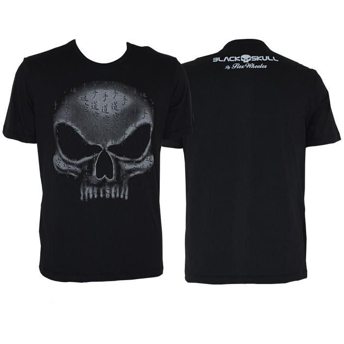 T-SHIRT FLEX WHEELER GREY - BLACK SKULL