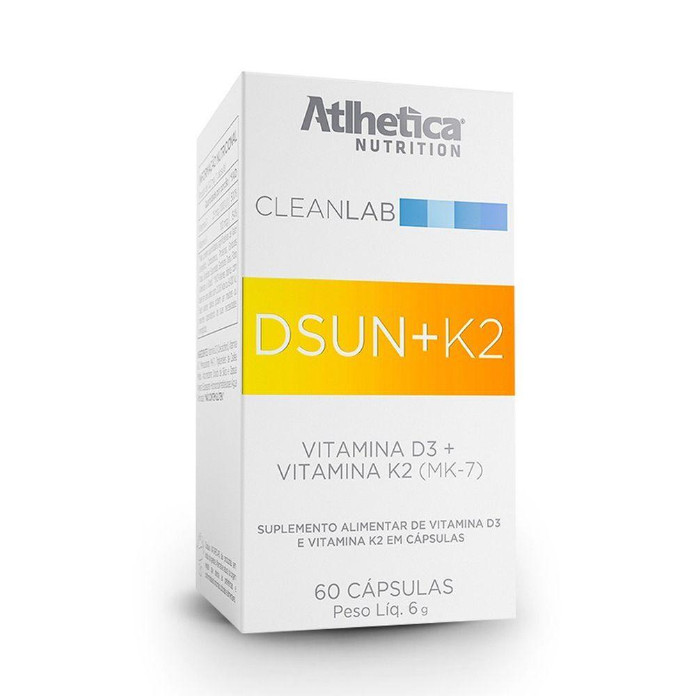 VITAMIN D3+K2 60 CAPS - ATLHETICA NUTRITION