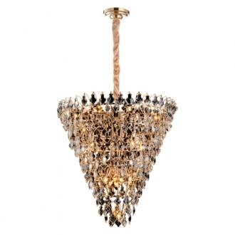 Lustre para Sala Paris AQ024L Dourado e Transparente