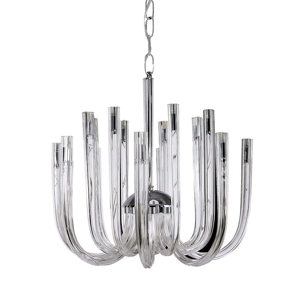 Lustre de Metal e Vidro LT801-TR Quality