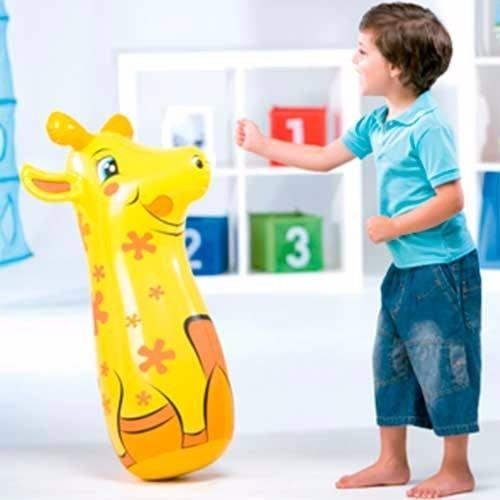 João Bobo Inflável 3 D Teimoso Girafa Animais Divertidos