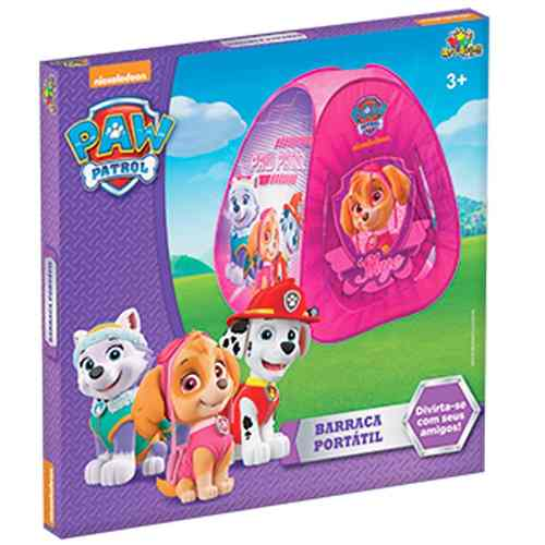 Barraca Toca Infantil Patrulha Canina Paw Patrol Skye Rosa
