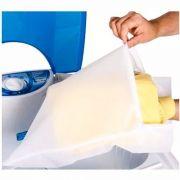 Kit 3 Sacos Para Lavar Roupas Delicadas 40x33cm Com Ziper G