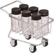 Porta Condimentos Temperos 6 Potes No Carrinho Supermercado