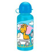 Squeeze Garrafinha Infantil Alumínio Baby Train Cores 400 Ml
