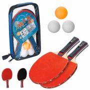 Kit Ping Pong Tênis De Mesa 2 Raquetes 3 Bolinhas E Estojo